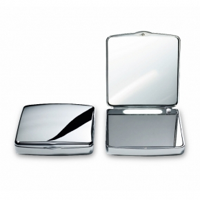 Зеркала косметические с подсветкой увеличением настенные настольные Зеркала с присосками. Мини-зеркало карманное косметическое двойное с подсветкой LED от батареек складное 1х1 и 1х7