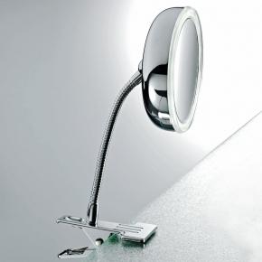Зеркала косметические с подсветкой увеличением настенные настольные Зеркала с присосками. Зеркало с подсветкой LED от батареек увеличение 1х5