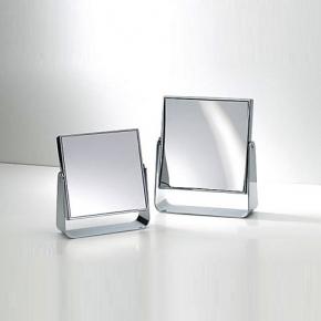 Зеркала косметические с подсветкой увеличением настенные настольные Зеркала с присосками. Квадратное зеркало косметическое с увеличением 1х1, 1х7 и 1х5 двухстороннее настольное