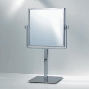 Зеркала косметические с подсветкой увеличением настенные настольные Зеркала с присосками. Квадратное настольное зеркало двухстороннее с увеличением 1х1 и 1х3