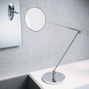 Зеркала косметические с подсветкой увеличением настенные настольные Зеркала с присосками. Настольное косметическое зеркало с длинными шарнирами и увеличением 1х5