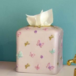 Салфетницы настольные настенные. Butterfly настольная салфетница куб керамическая розовая