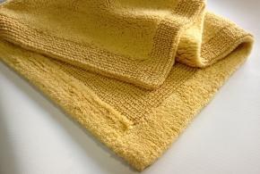 Коврики для ванной комнаты.  Arizona Nicol коврик для ванной комнаты хлопковый двухсторонний Золотой