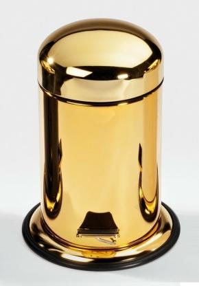 Вёдра с педалью Дровницы Вёдра. Ведро с педалью Золотое декор золотая крышка