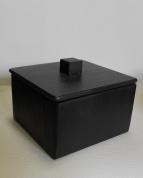 . Marmores Ardesia аксессуары для ванной чёрные настольные косметическая ёмкость с крышкой из натурального камня
