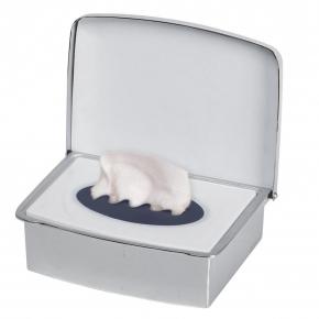 Аксессуары для ванной настольные. Контейнер для влажной туалетной бумаги настольный INGA Nicol