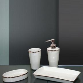 . Sofia Nicol аксессуары для ванной настольные платиновые фарфоровые комплект