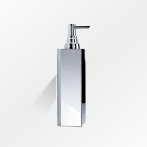 Настенный дозатор для жидкого мыла металлический хром
