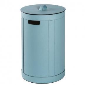 Корзины для белья. Storage Blu кожаная корзина для белья универсальная с крышкой круглая