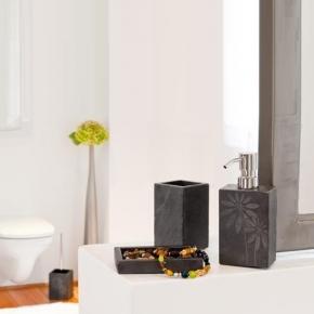 Аксессуары для ванной настольные. Batex Jura настольные аксессуары для ванной сланцевые