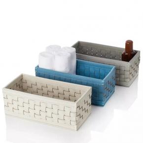 Аксессуары и Мебель для дома. Кожаный лоток плетёный - ёмкость универсальная Outdoor