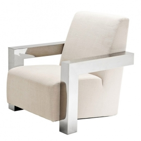 Кресла. Eichholtz Chair Franco кресло молочного цвета