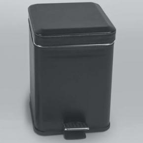 . Colombo Black & White ведро с педалью кожаное Чёрное 3 и 6 литров