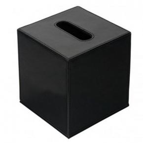 . Colombo Black & White салфетница настольная кожаная Чёрная Куб