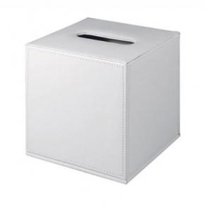 . Colombo Black & White салфетница настольная кожаная Белая Куб