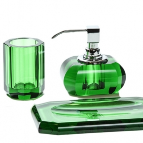 . Kristall Green Decor Walther Аксессуары для ванной настольные хрустальные зелёные