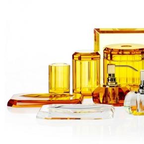 . Kristall Amber Decor Walther хрустальные аксессуары для ванной настольные Янтарные