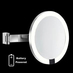 Зеркала косметические с подсветкой увеличением настенные настольные Зеркала с присосками. ALISEO Led Interface зеркало с подсветкой от батареек и увеличением х3 настенное круглое