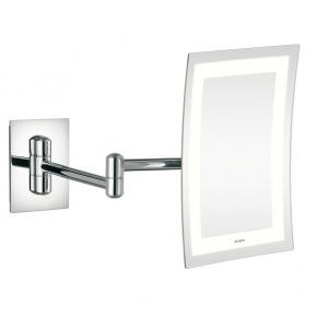 Зеркала косметические с подсветкой увеличением настенные настольные Зеркала с присосками. Aliseo Led Lunatec Minimalist прямоугольное косметическое зеркало с увеличением х3 и подсветкой двойной шарнир