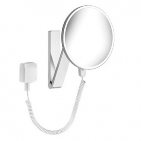 Зеркала косметические с подсветкой увеличением настенные настольные Зеркала с присосками. Keuco iLOOK_move зеркало косметическое с подсветкой LED с проводом круглое