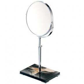 Зеркала косметические с подсветкой увеличением настенные настольные Зеркала с присосками.  Зеркало косметическое настольное Horn & lacquer Black by Arcahorn