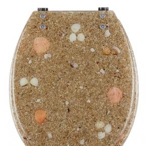 Сиденья для унитаза с крышкой. Seabed сиденье для унитаза с микролифтом крышки морской декор песок и ракушки