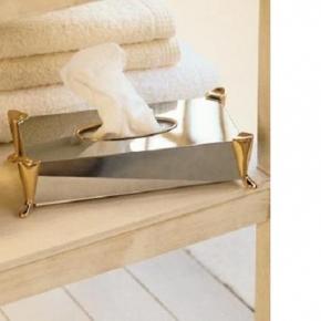 . Pomdor настольные аксессуары для ванной салфетница Windsor хром/золото