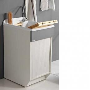 Итальянские постирочные раковины Мебель и оборудование для постирочной комнаты. Мебель для постирочной Глубокая раковина для стирки LR Colavene серая