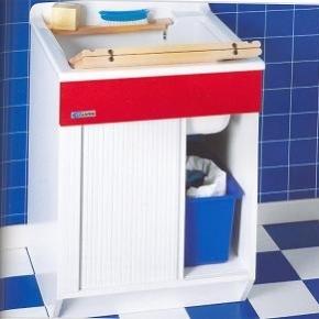 Итальянские постирочные раковины Мебель и оборудование для постирочной комнаты.  Мебель постирочная JWR Colavene Глубокая раковина для стирки