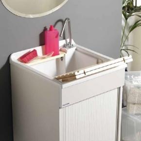 Итальянские постирочные раковины Мебель и оборудование для постирочной комнаты. Мебель для постирочной JWR Colavene Глубокая раковина для стирки белая