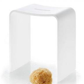 Банкетки для ванной Пуфы Интерьерные Табуреты для ванной и душа Откидные сиденья. Stone белый табурет для душевой кабины и ванной комнаты