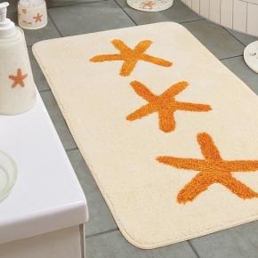 Коврики для ванной комнаты. Коврик для ванной комнаты Shell Nicol декор Морские звёзды