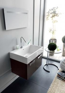 Итальянские постирочные раковины Мебель и оборудование для постирочной комнаты. Мебель для постирочной, венге, подвесная керамическая раковина Colavene Acquaceramica