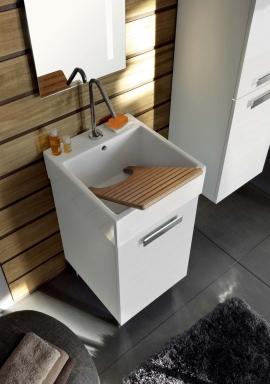 Итальянские постирочные раковины Мебель и оборудование для постирочной комнаты. Мебель для постирочной, белый, керамическая раковина Colavene Acquaceramica