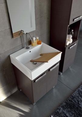 Итальянские постирочные раковины Мебель и оборудование для постирочной комнаты. Мебель для постирочной, венге, керамическая раковина Colavene Acquaceramica