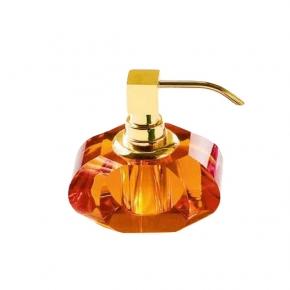 . Kristall Amber хрустальные настольные аксессуары для ванной Оранжевые дозатор золотой Decor Walther