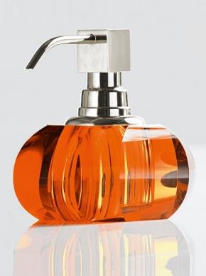 . Kristall Amber хрустальные настольные аксессуары для ванной Оранжевые дозатор Decor Walther