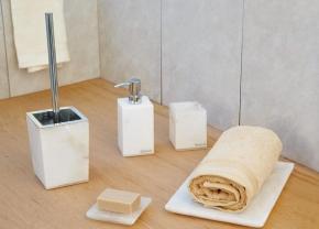 Аксессуары для ванной настольные. Blanca Nicol Alabaster Аксессуары для ванной настольные