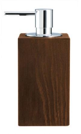 Мебель и Аксессуары для ванной из натурального дерева, Раттана и Бамбука. Настольные аксессуары для ванной тон Венге Wenge дозатор деревянный