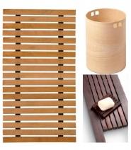 Мебель и Аксессуары для ванной из натурального дерева, Раттана и Бамбука