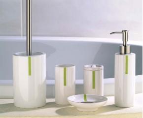 РАСПРОДАЖА. Malta Nicol настольные аксессуары для ванной керамические белые с декором