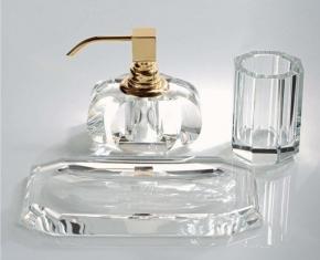 . Kristall KR Klar Decor Walther Хрустальные настольные аксессуары для ванной золотой декор
