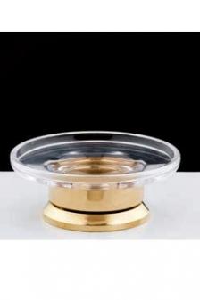 Аксессуары для ванной с кристаллами Swarovski. Аксессуары для ванной с кристаллами Swarovski Rifles мыльница настольная золотая