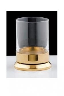 Аксессуары для ванной с кристаллами Swarovski. Аксессуары для ванной с кристаллами Swarovski Rifles стакан настольный золотой