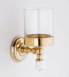 Аксессуары для ванной с кристаллами Swarovski. Аксессуары для ванной с кристаллами Swarovski Rifles стакан золотой