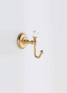 Аксессуары для ванной с кристаллами Swarovski. Аксессуары для ванной с кристаллами Swarovski Rifles крючок золотой