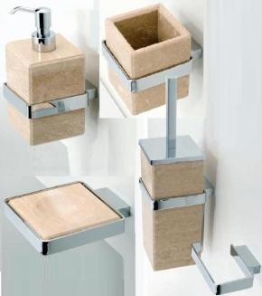 . Travertino MARMORES аксессуары для ванной настенные