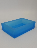 Аксессуары для ванной настольные. Аксессуары для ванной настольные стеклянные синие Arcobaleno Marmores мыльница
