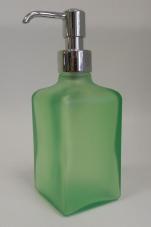Аксессуары для ванной настольные. Аксессуары для ванной настольные стеклянные зелёные Arcobaleno Marmores дозатор хром