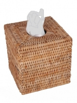 Салфетницы настольные настенные. Салфетница плетёная Rattan Ротанг Куб мёд